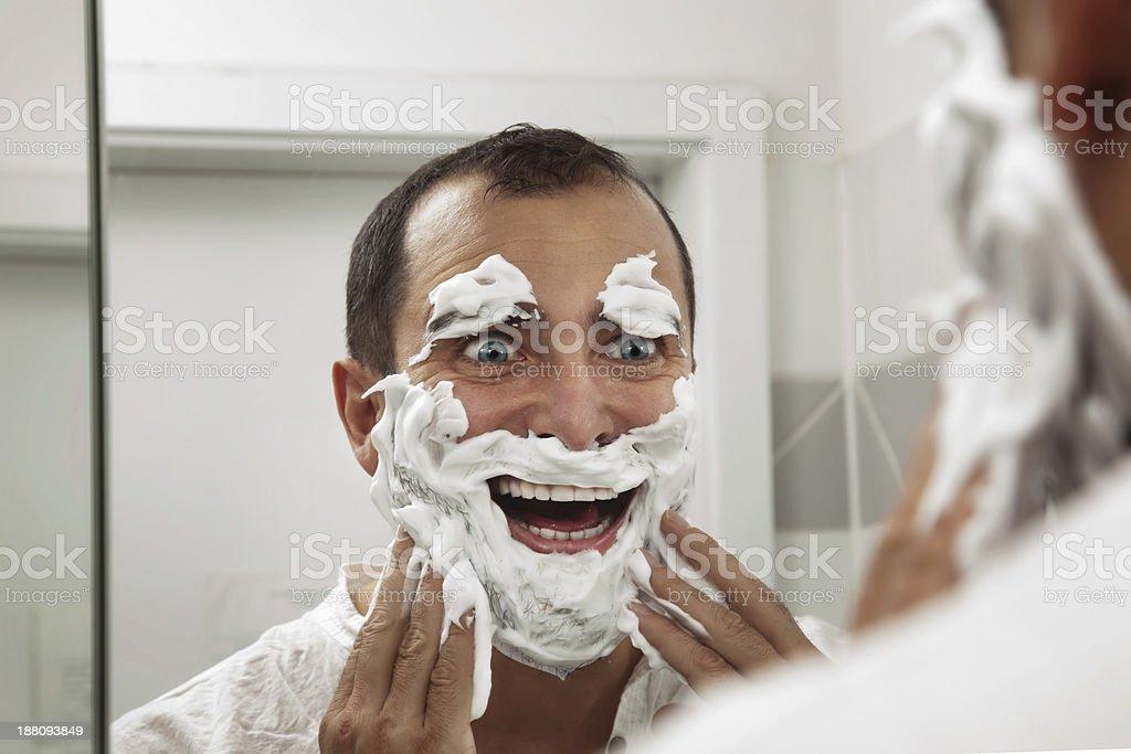 Shaving make me fun! stock photo