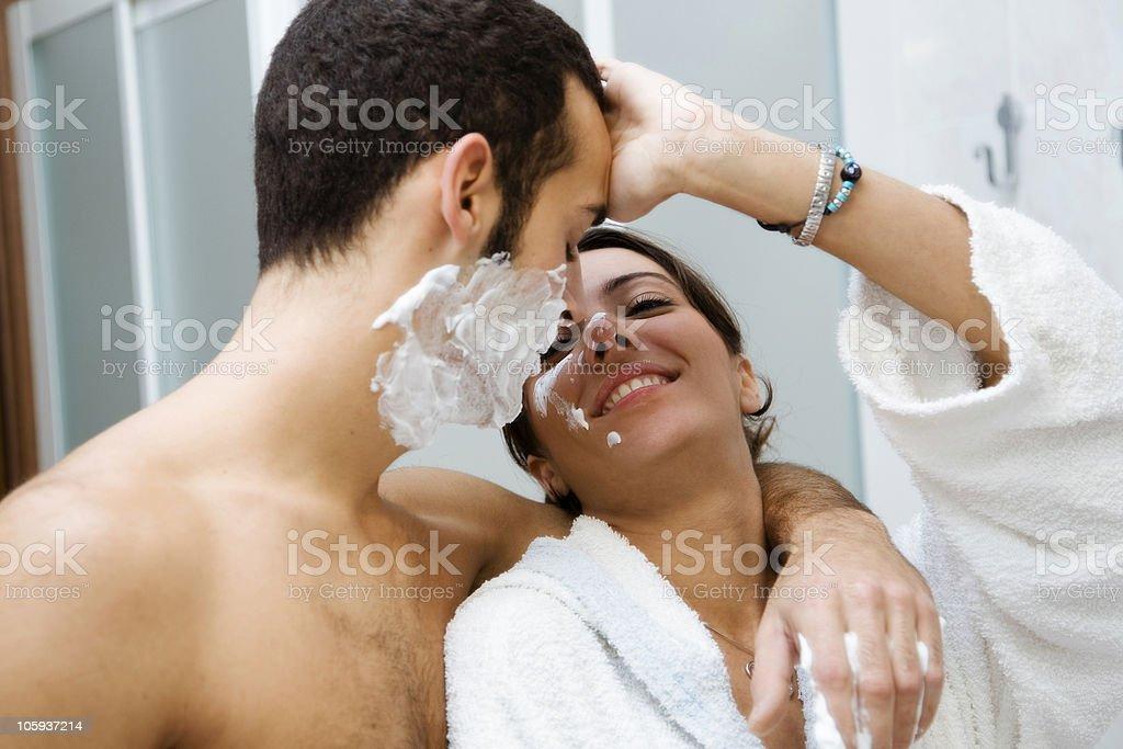 shaving royalty-free stock photo