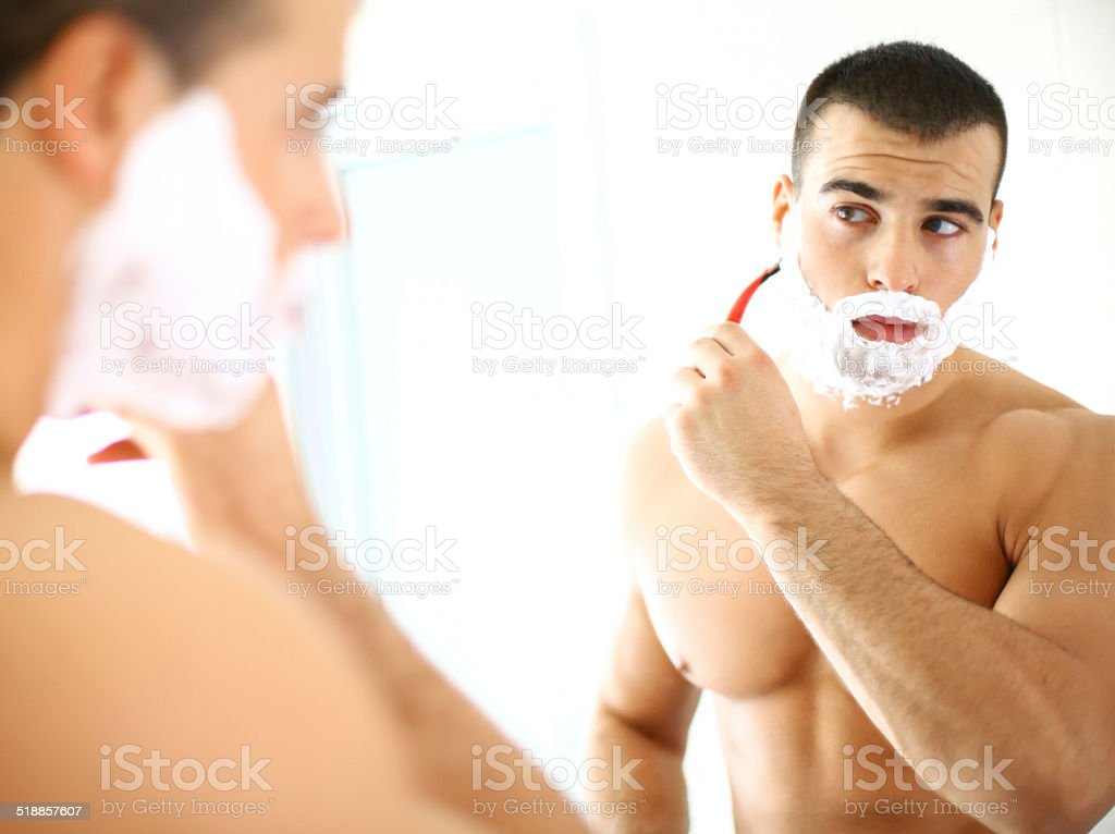 Shaving. stock photo