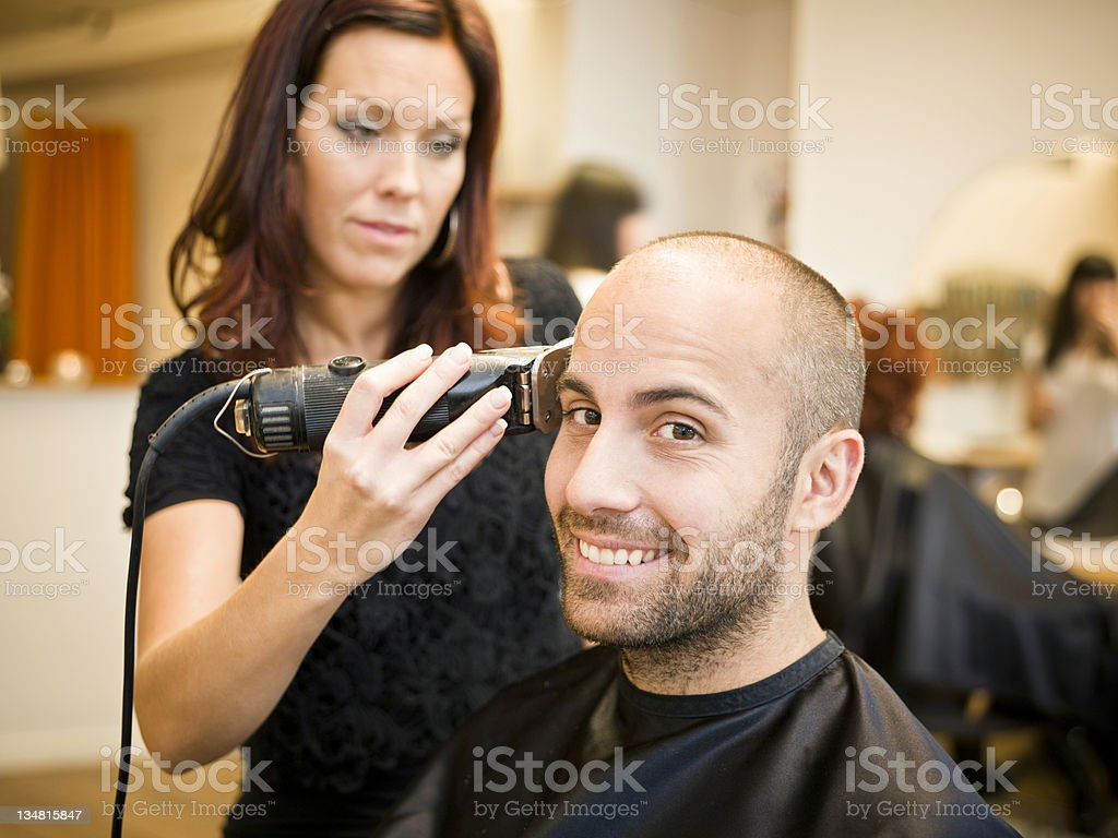 Shaving situation royalty-free stock photo