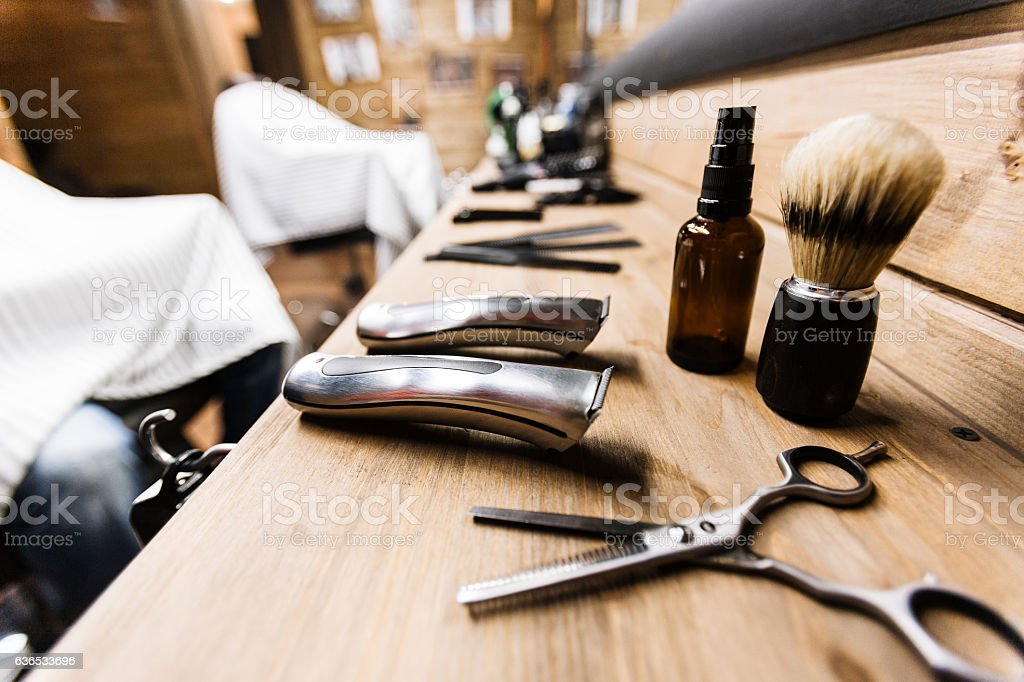 Shaving stuff stock photo