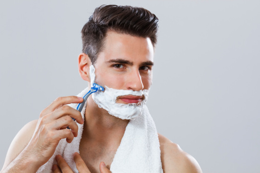 Shaving The Beard Stock Photo - Download Image Now
