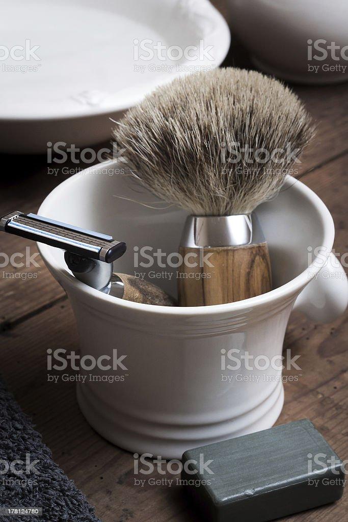 Shaving Tools, vintage stock photo