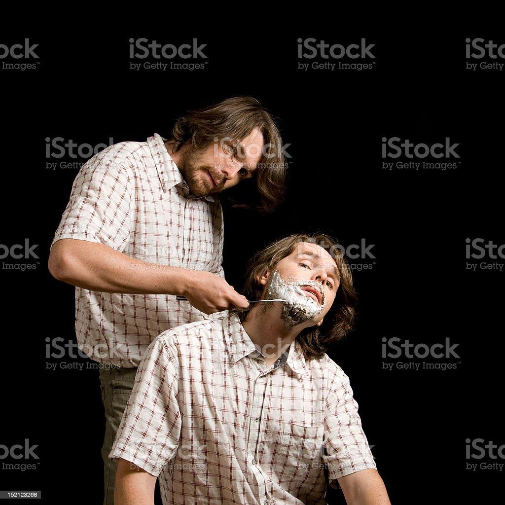 Shaving yourself royalty-free stock photo
