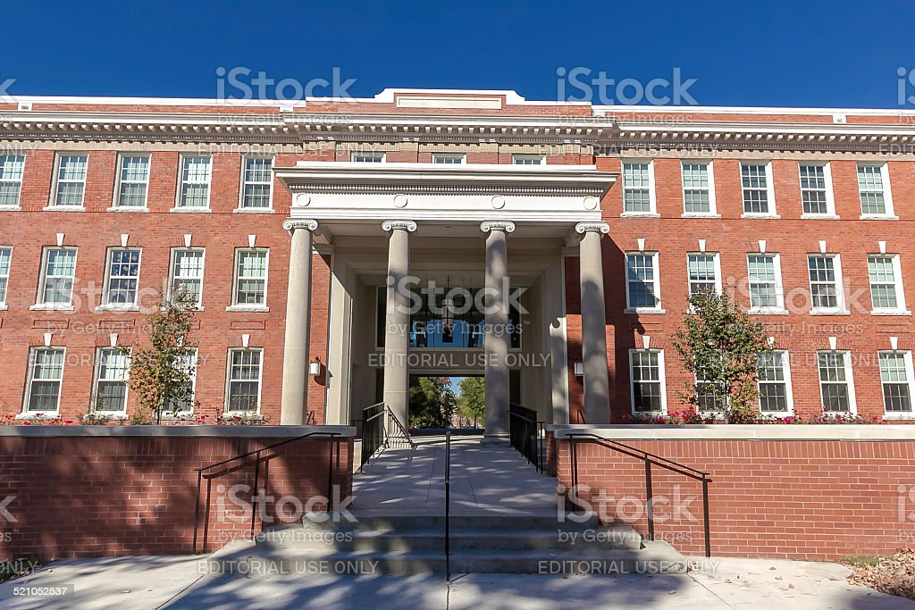 Shaw Hall and Quad at UNCG stock photo