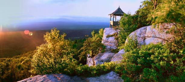 Shawangunk Mountain Sunset stock photo