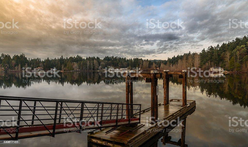 Shawingan Lake stock photo