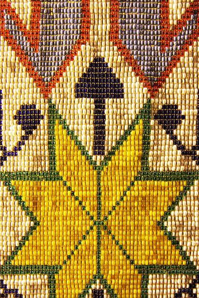Shawnee Indian Bead Artwork 1830s stock photo