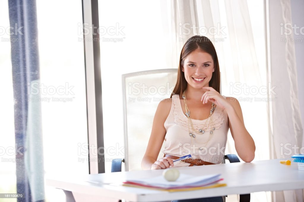 She absolutely loves her job royalty-free stock photo
