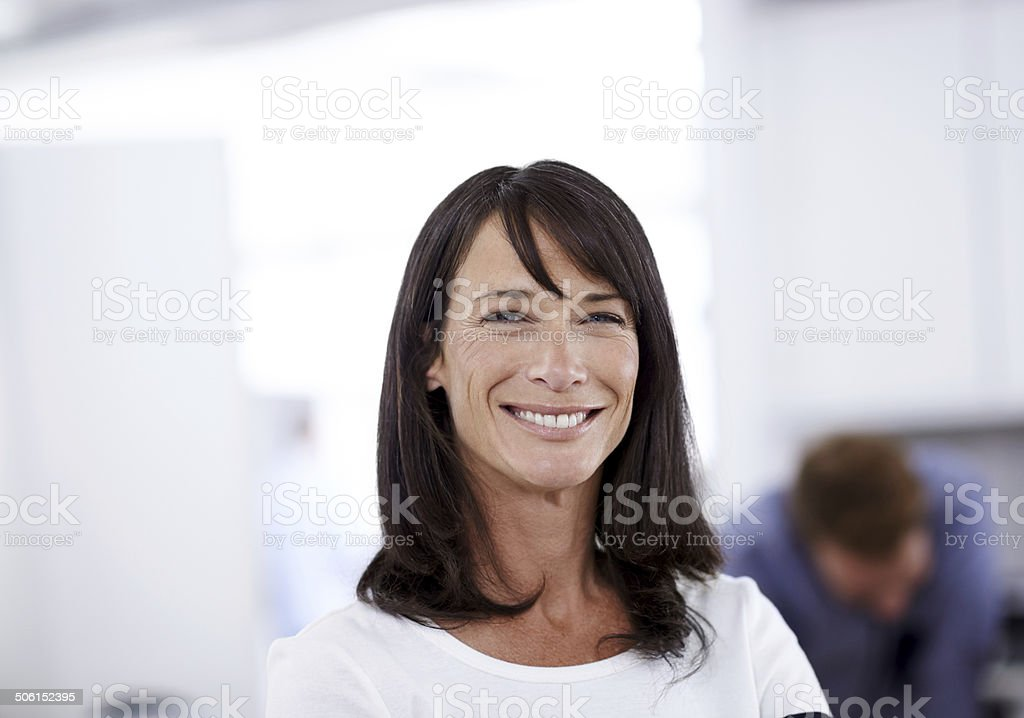 She always delivers top-quality work stock photo