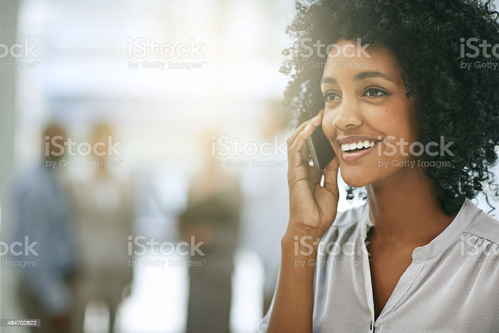 She always makes herself available to her clients stock photo