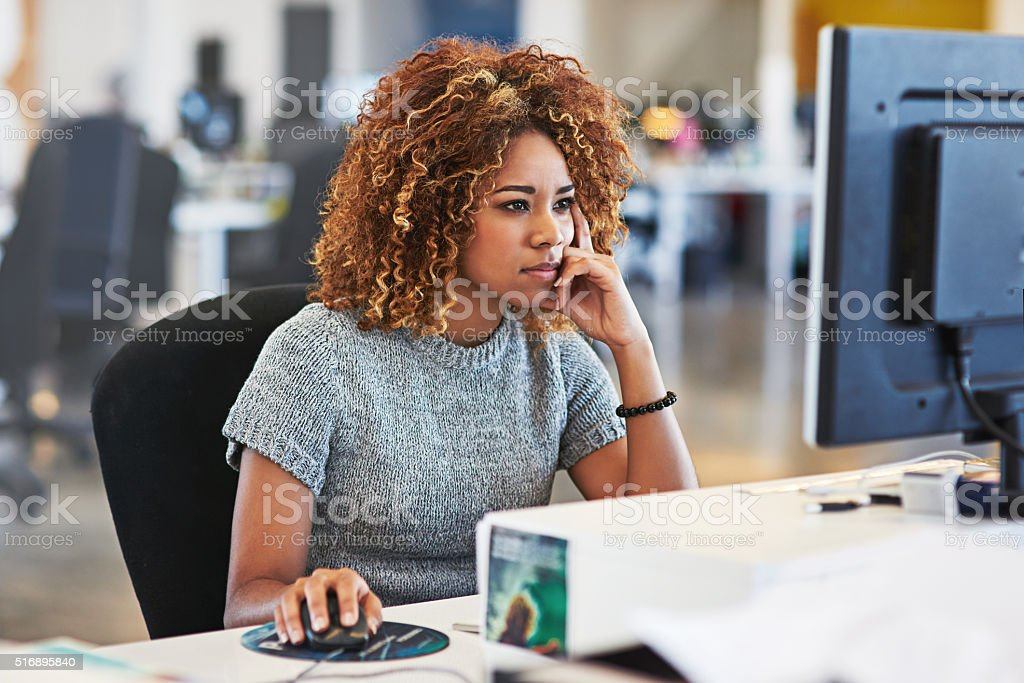 She always makes sure she meets her deadlines stock photo
