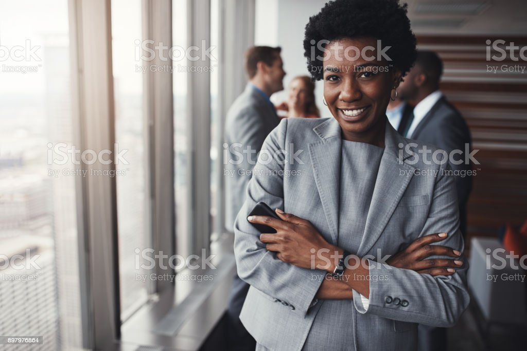 She always ready to prove herself stock photo