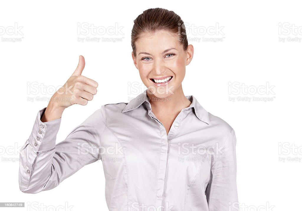 She approves royalty-free stock photo