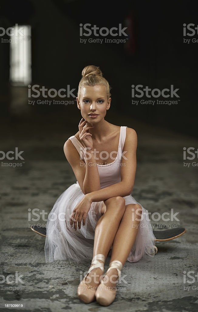 She brings grace to any situation stock photo