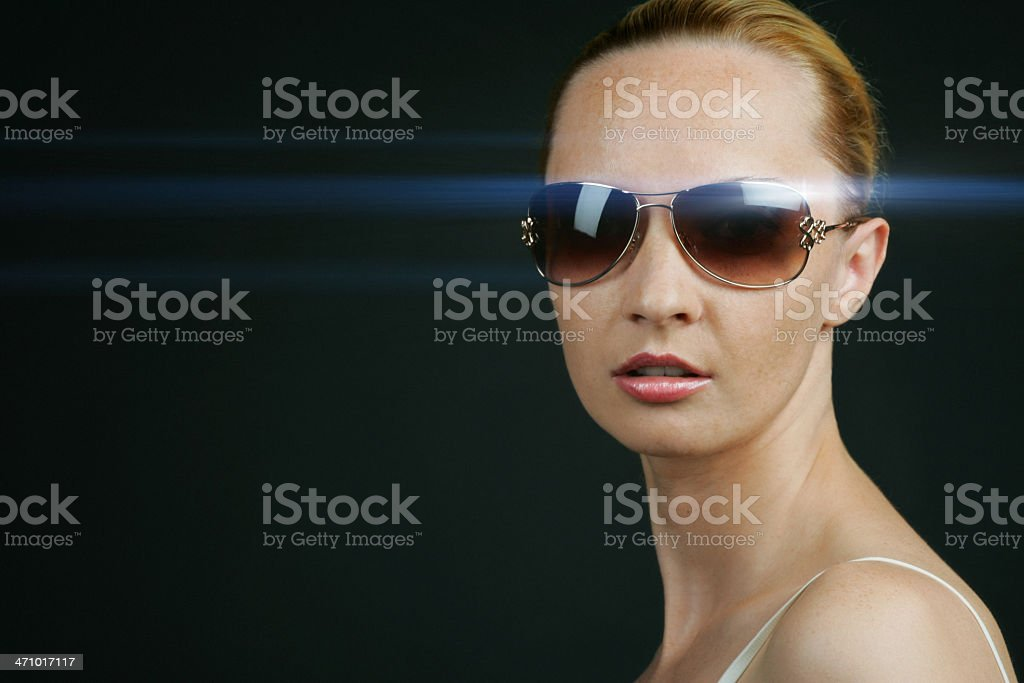 She came from the Matrix stock photo