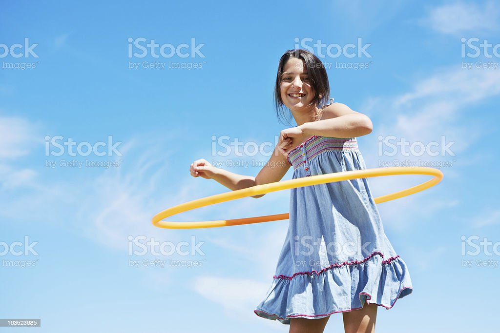 She can hoola for hours royalty-free stock photo