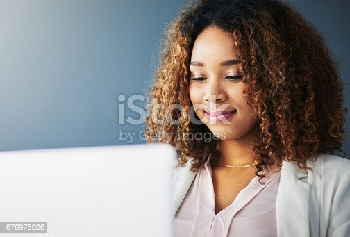 istock She doesn't mind working alone 876975328