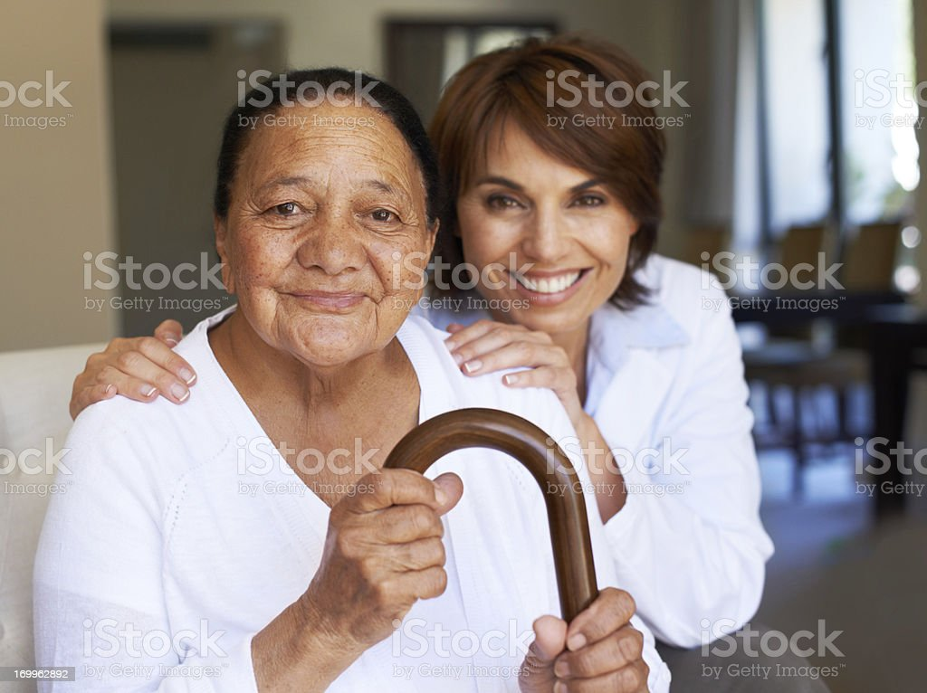 She feels safe and supported stock photo