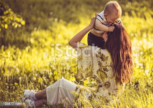 525959168 istock photo She gave birth to her happiness. 1058721584