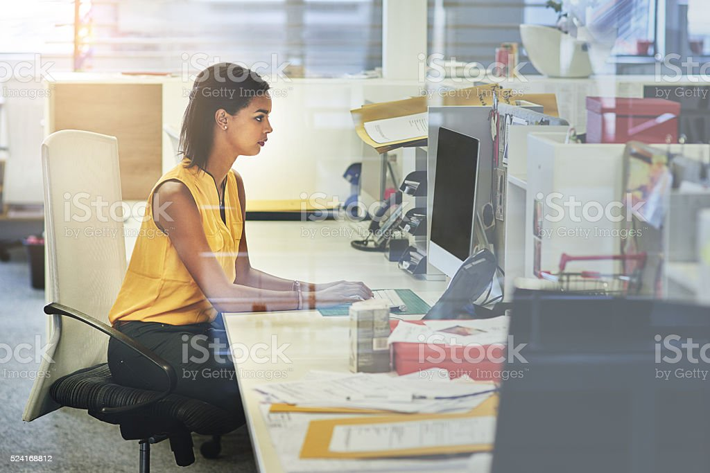 She gives one hundred and ten percent every day stock photo