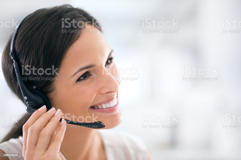 She goes the extra mile for her clients stock photo
