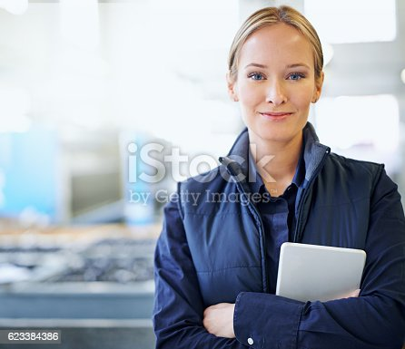 915900234istockphoto She guarantees quality on the factory floor 623384386