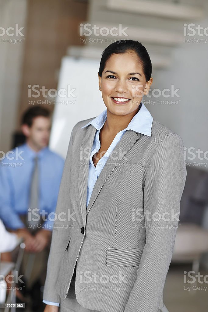 She has a brilliant business reputation royalty-free stock photo