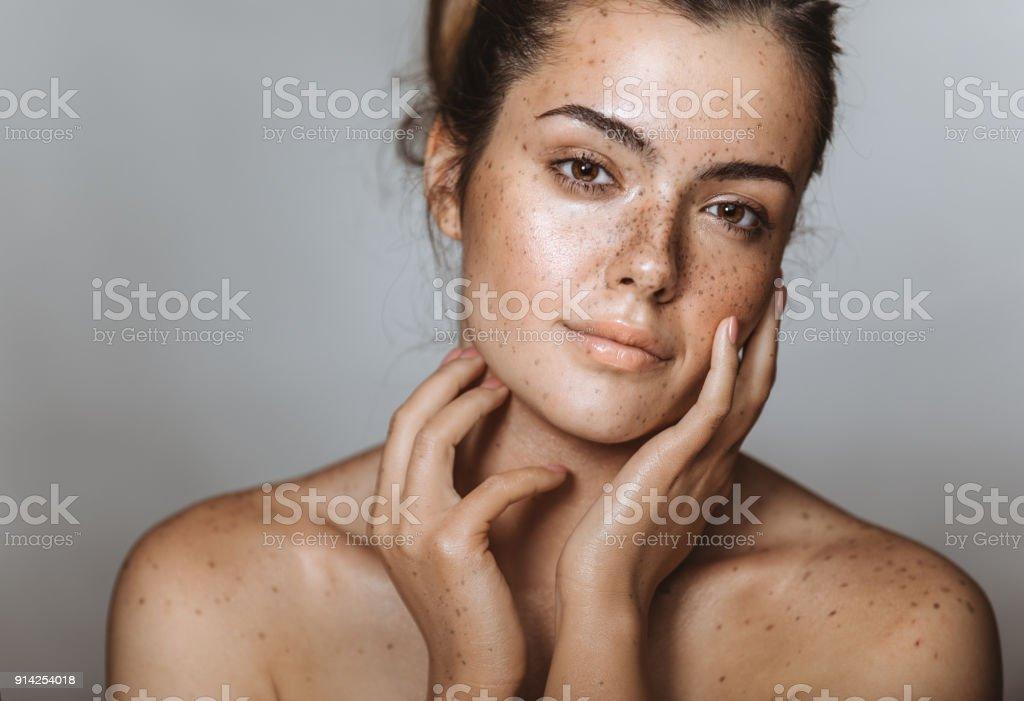 Sie hat eine bezaubernde Schönheit Lizenzfreies stock-foto