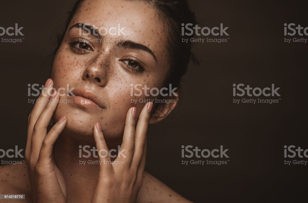 She has a captivating beauty stock photo