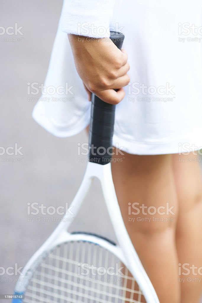 She has a handle on the game royalty-free stock photo