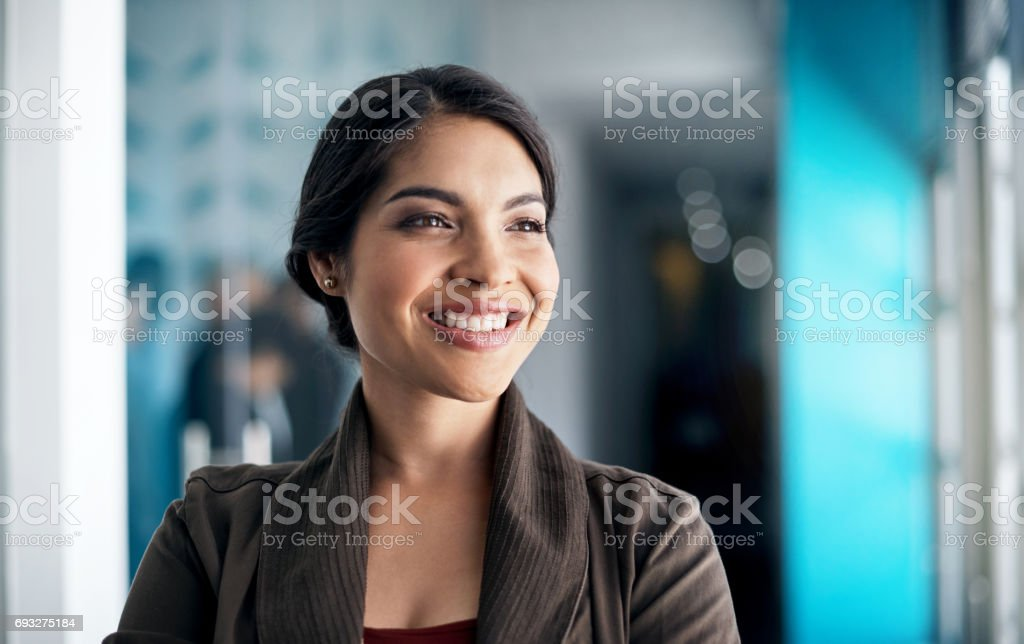 She has a multitude of qualities that many lack stock photo