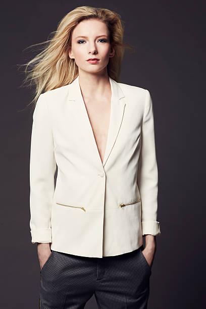 she has a natural style - men blazer stockfoto's en -beelden