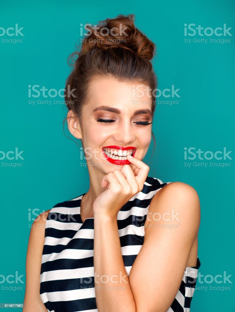 She Has A Secret She Wants To Tell You Stock Photo