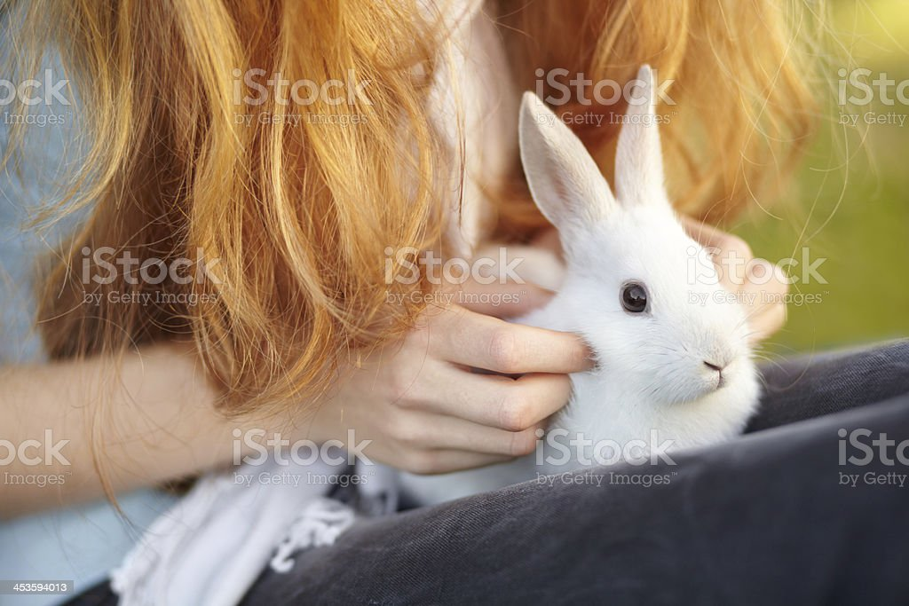She has a soft touch royalty-free stock photo