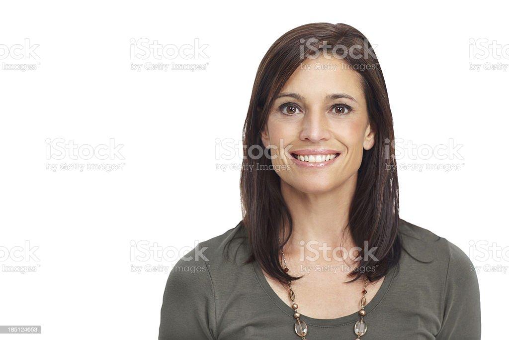 She has a strong sense of self royalty-free stock photo