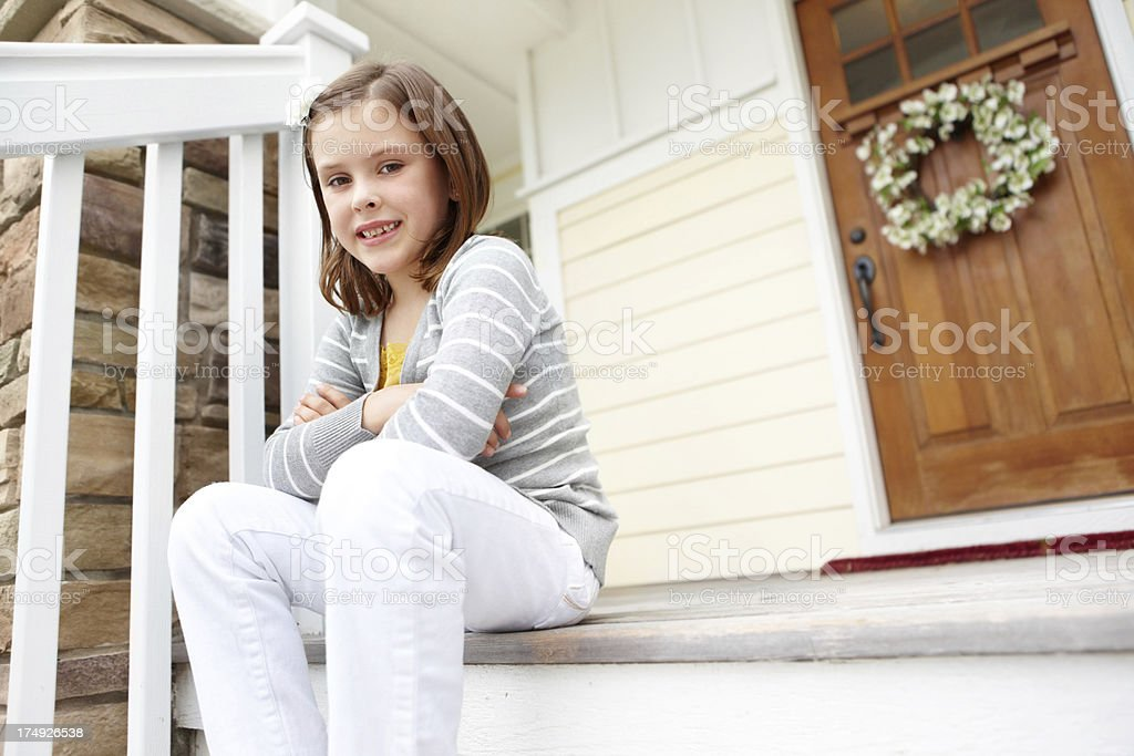 She has a sweet and pleasant nature royalty-free stock photo