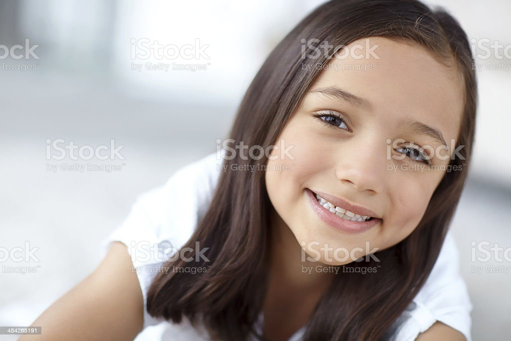 She has a wonderful childhood royalty-free stock photo