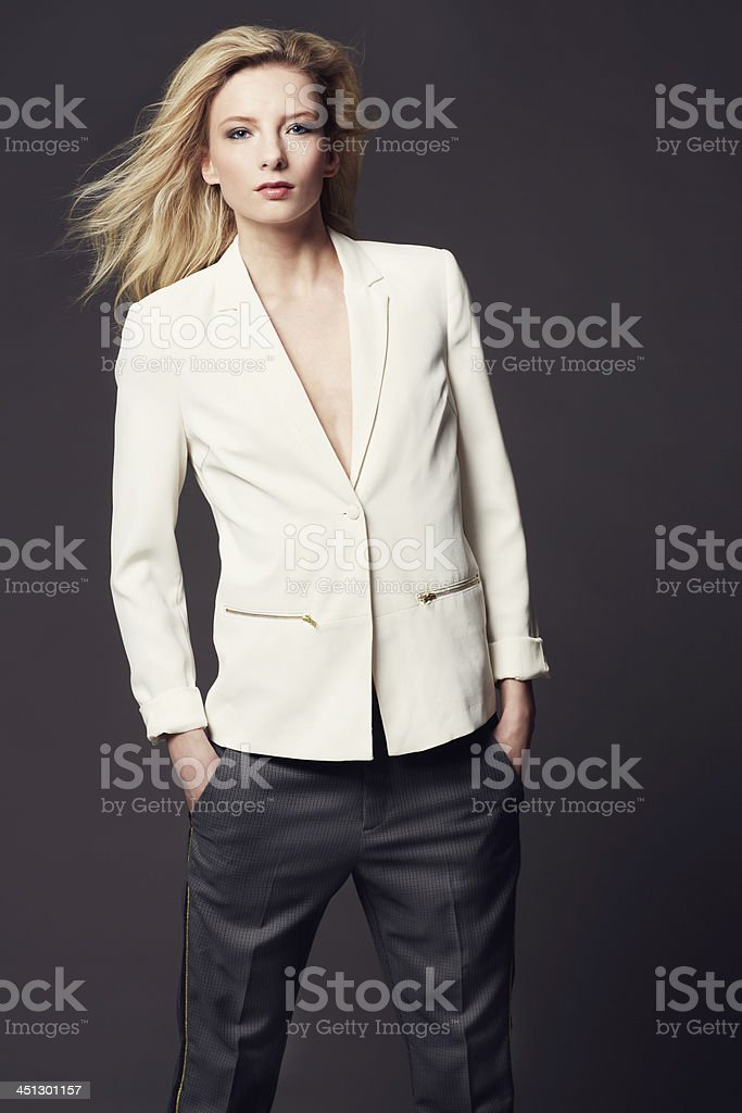 She has great fashion sense stock photo