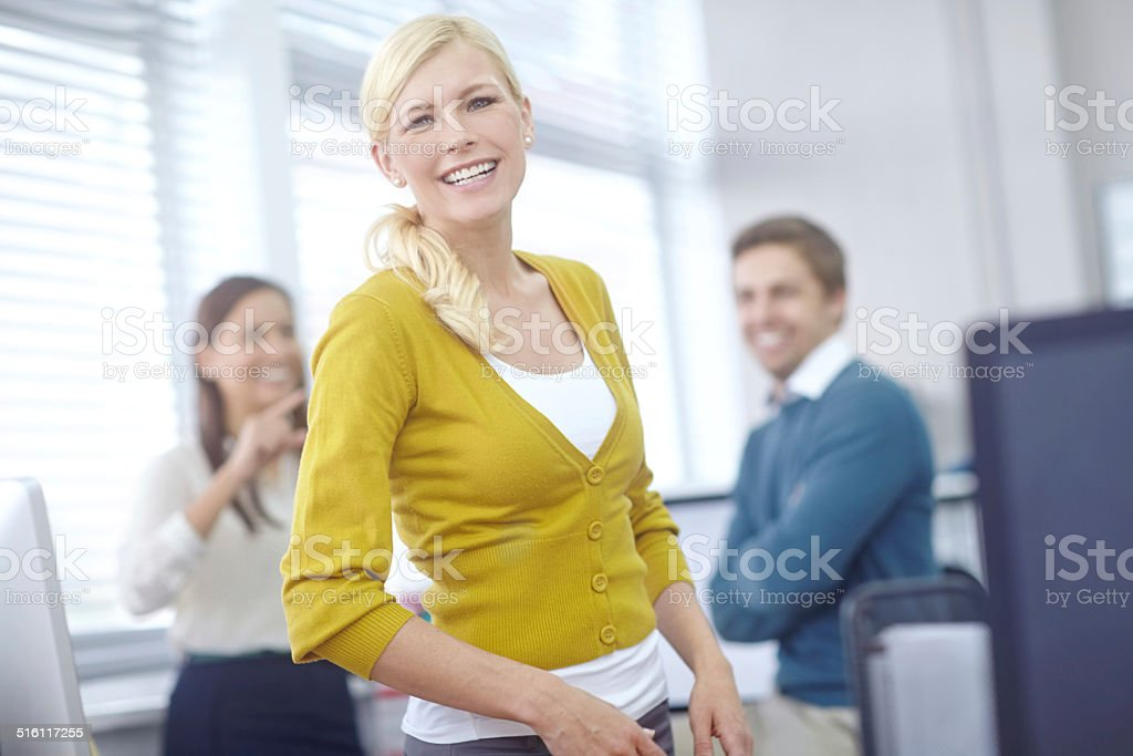 Sie hat großartige Führungsqualitäten - Lizenzfrei Arbeiten Stock-Foto