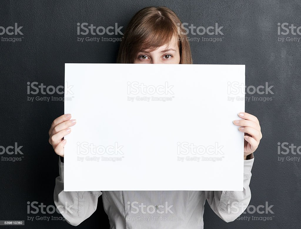 She has something to say stock photo