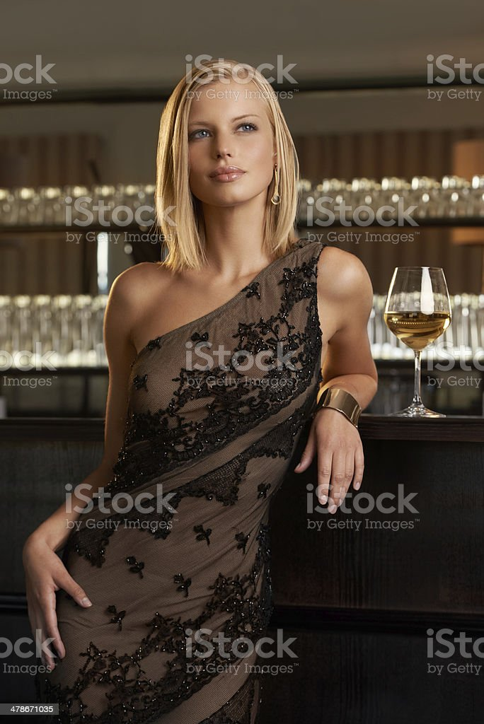 She has style and class stock photo