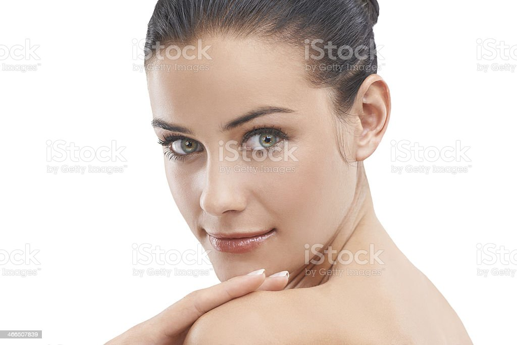 She has the face of youth royalty-free stock photo