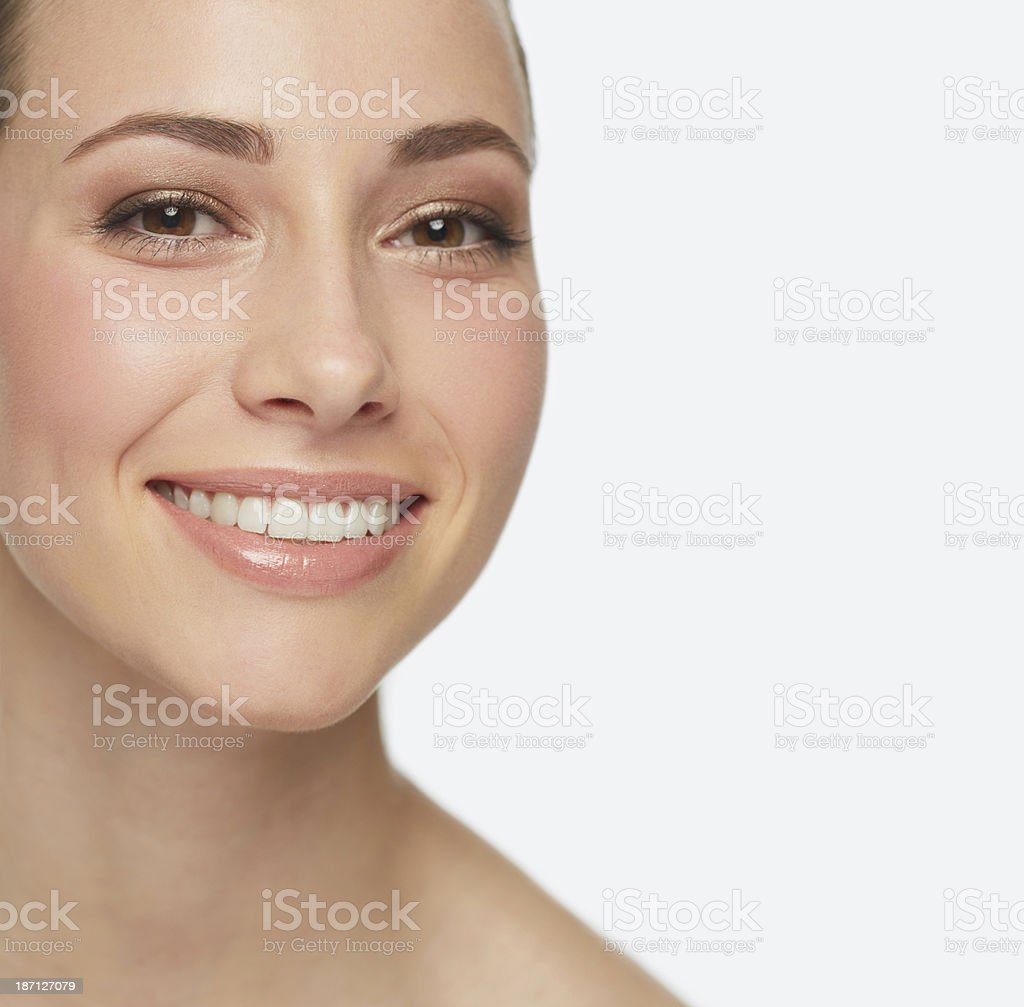 She has the most beautiful skin royalty-free stock photo