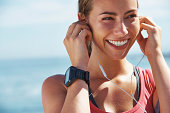 istock She has the perfect playlist lined up for this run 468994393