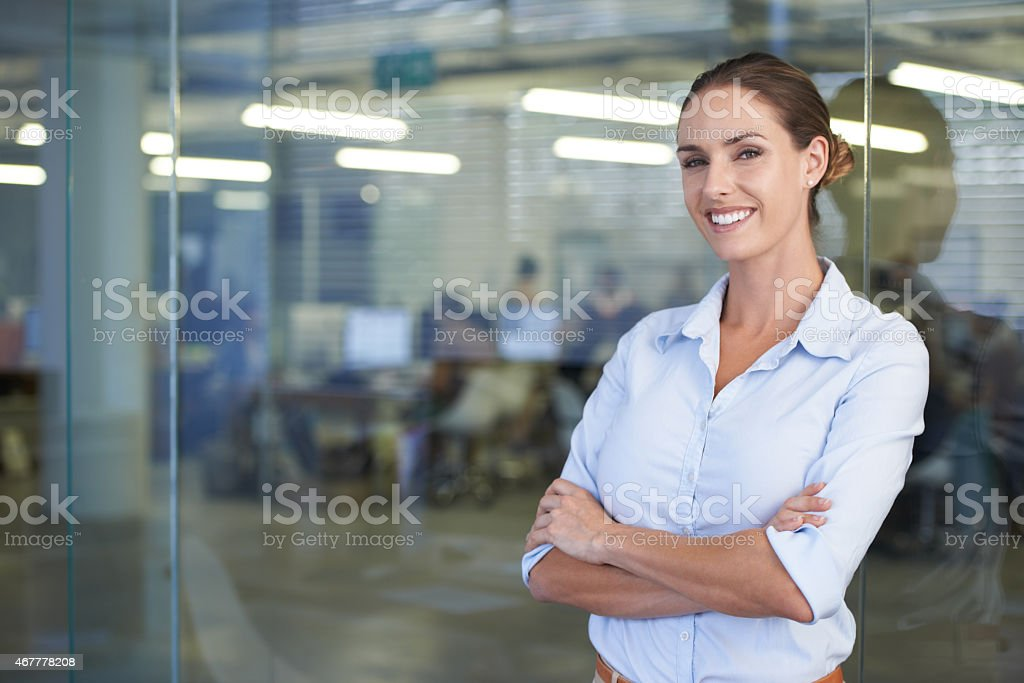 She has this office running smoothly royalty-free stock photo