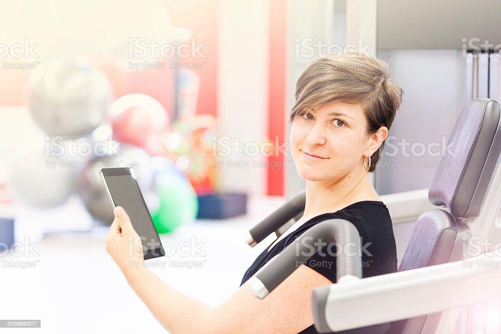 Sie Ihren trainingsplan sein, die auf einem tablet PC – Foto