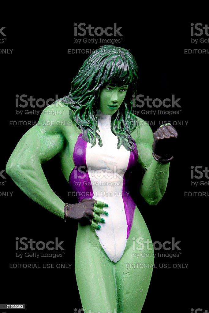 She Hulk royalty-free stock photo