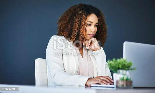 istock She is always thinking of new ideas for the company 876975510
