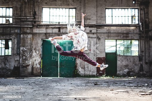 She is amazing break-dancer
